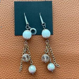 Ottaviani Bijoux Dangle Earrings Rose Gold Tone